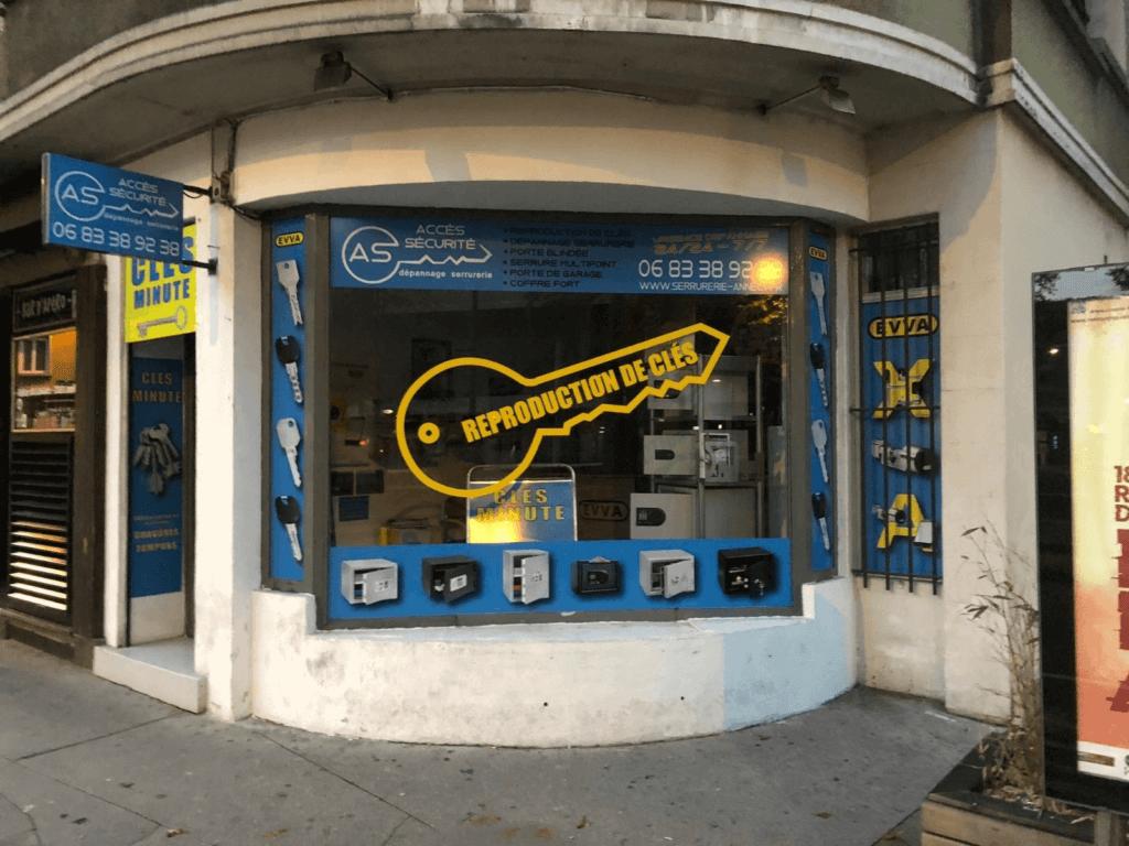 Boutique Accès Sécurité : reproduction de clefs et dépannage serrurier